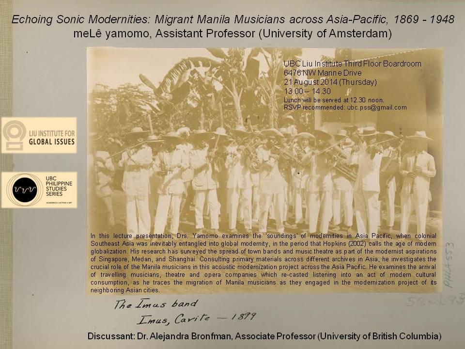 Philippine Studies Lecture Series – Liu Institute for Global Issues, University of British Columbia